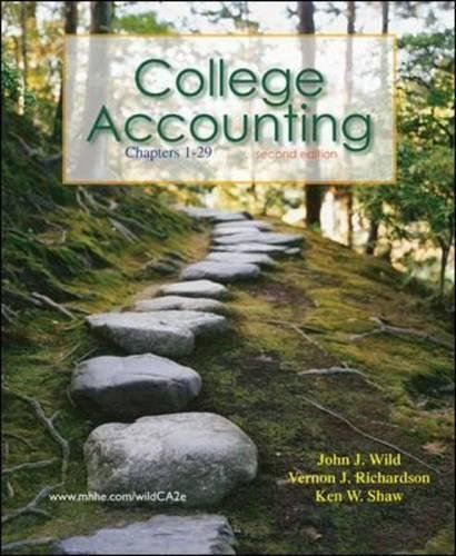 College Accounting Ch 1-29 with Annual Report: John J Wild;