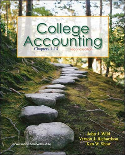 College Accounting: Vernon Richardson; Ken