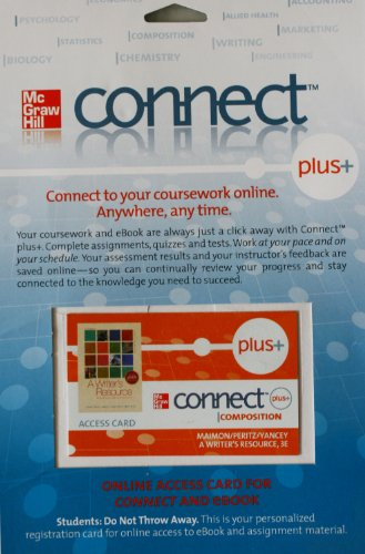 9780077346959: Stock Image Connect Plus Access Card: A Writer's Resource