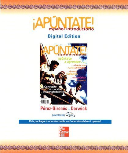 9780077347505: (Apuntate!) ¡Apúntate! Español Introductorio (Digital Edition), 1st Edition ([Quia eBook Access Card