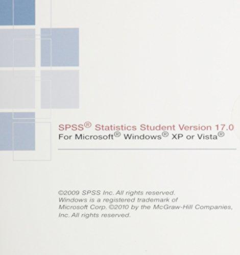 9780077347772: Spss V17 Student Software for Statistica