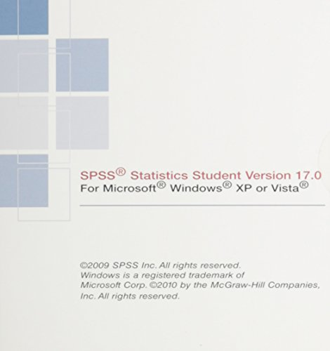 9780077347772: Spss V17 Student Software for Statistica