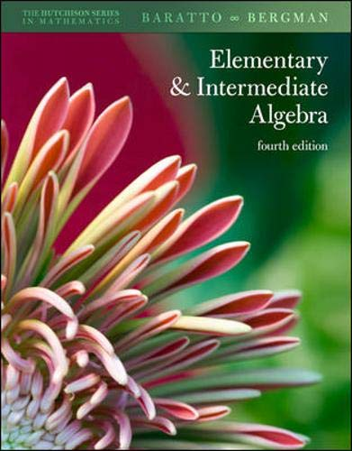 9780077350123: Hutchison's Elementary and Intermediate Algebra (Hutchison Series in Mathematics)
