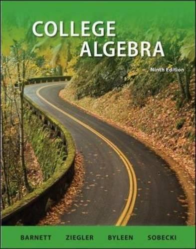 9780077350161: College Algebra