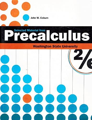 9780077351069: Precalculus Selected Material (Custom)