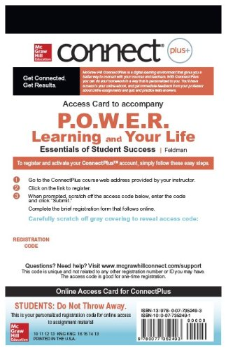 9780077352493: Connect Plus Access Card for POWER Learning & Your Life