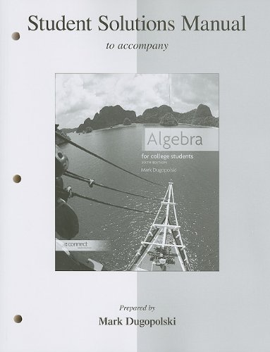 9780077353148: Student Solutions Manual for Algebra for College Students