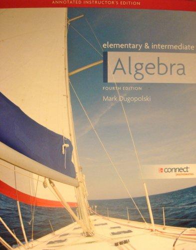 9780077353292: Elementary and Intermediate Algebra