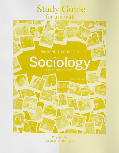 9780077353643: Study Guide for use with Sociology: A Brief Introduction