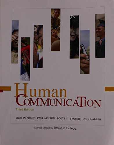 9780077354091: Human Communication - Special Edition for BROWARD COLLEGE