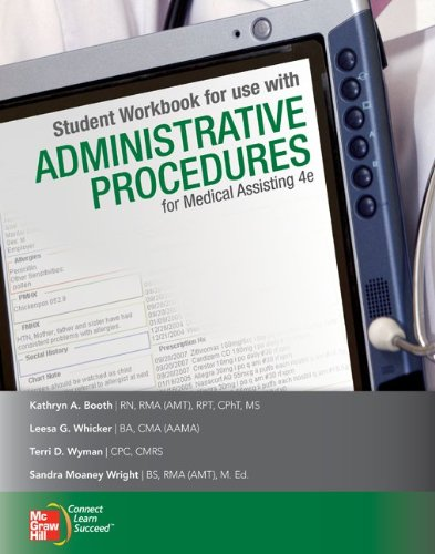 9780077358280: Student Workbook for use with Administrative Procedures for Medical Assisting