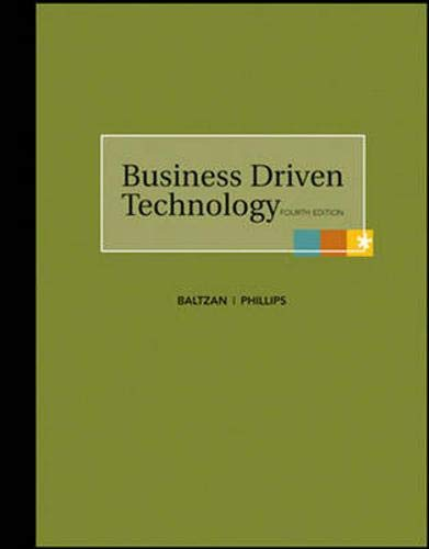 9780077359355: Business Driven Technology with Premium Content Card