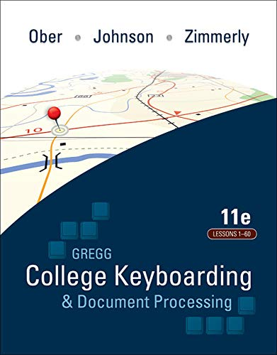 9780077361396: Gregg College Keyboarding & Document Processing, Kit 1, Lessons 1-60: with Word 2007 Manual, 11th Edition