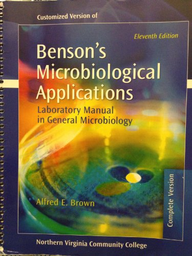 9780077361877: Benson's Microbiological Applications: Laboratory Manual in General Microbiology