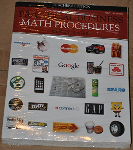 9780077362225: Practical Business Math Procedures, Teacher's Edition (also includes Business Math Handbook)