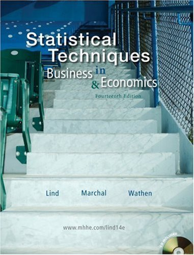 9780077365462: Statistical Techniques in Business & Economics (14th Ed. - UMUC Edition) (UMUC Custom Edition w/CD-ROM)