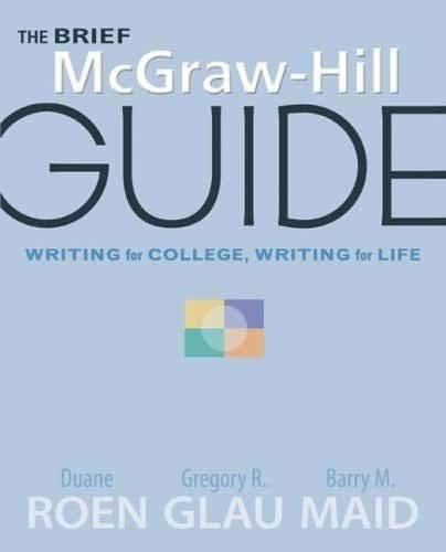 9780077365509: The Brief Mcgraw-hill Guide Writing for College, Writing for Life (UMUC)