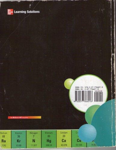 9780077366018: Chemistry (Custom Edition for York College)