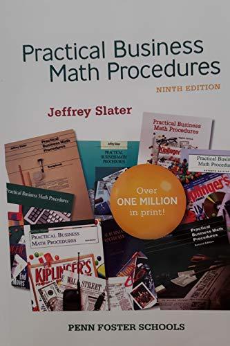 9780077366537: Practical Business Math Procedures (Penn Foster Schools)