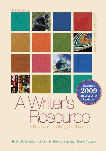 9780077368791: A Writer's Resource (spiral-bound) 2009 APA & MLA Update, Student Edition