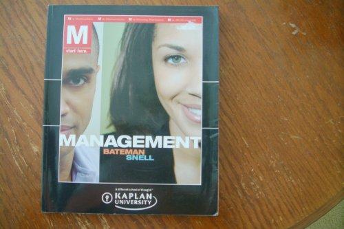 9780077373078: Management (Kaplan University)
