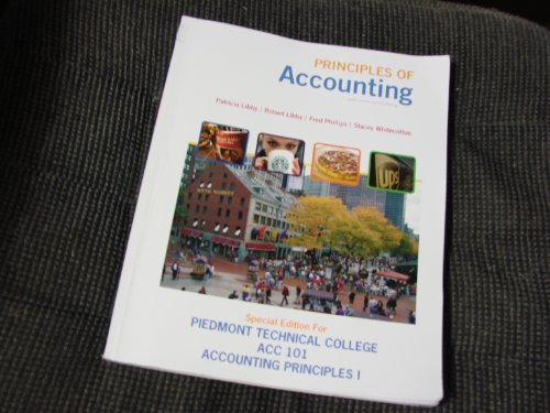 9780077373801: Principles of Accounting (Piedmont Technical College - ACC 101 Accounting Principles I)