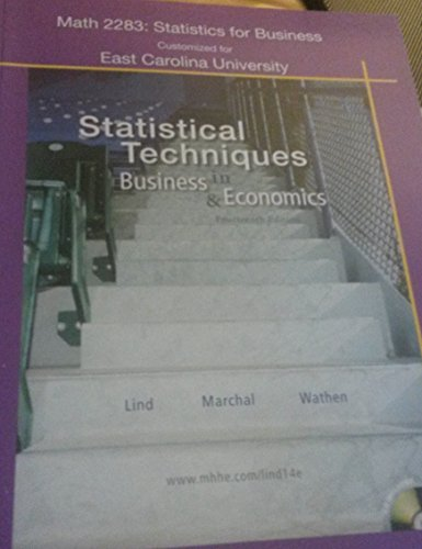 9780077377311: (Statistics for Business Customized for Ecu) Statistical Techniques in Business & Economics