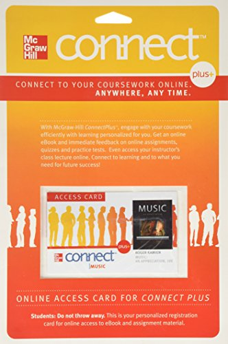 9780077377618: Connect Access Card for Music: An Appreciation (Connect Music)