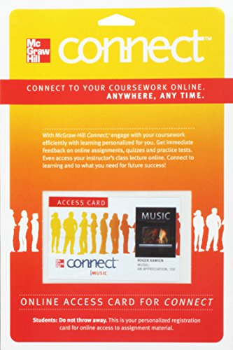 9780077377670: Connect Music Access Card for Music: An Appreciation