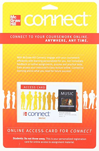 9780077377700: Connect Music Access Card for Music: An Appreciation, Brief Edition