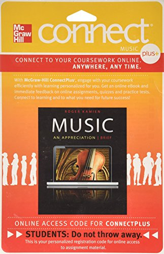 9780077377717: Connect Plus Access Code for Music: An Appreciation Brief 7e