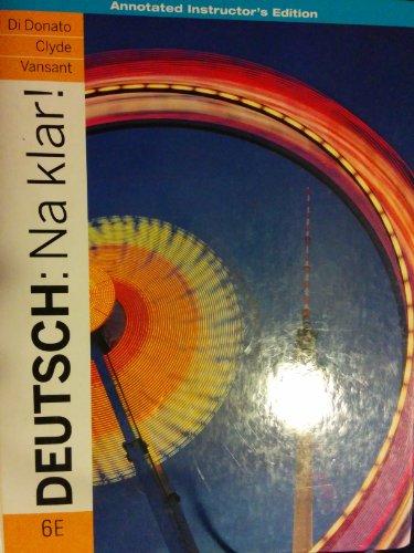 9780077378455: Deutsch: Na Klar!: An Introductory German Course