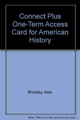 9780077379544: Connect 1-Semester Access Card for American History