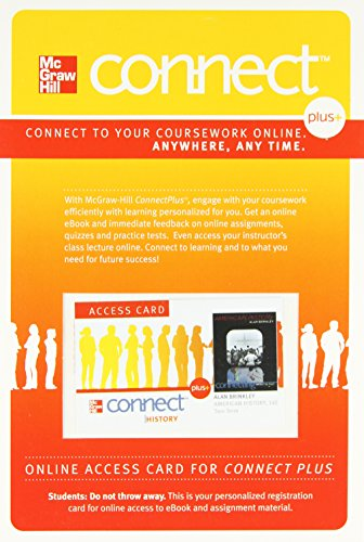 9780077379551: Connect 2-Semester Access Card for American History