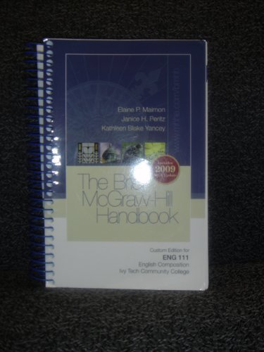9780077380489: Brief McGraw-Hill Handbook Custom Ivy Tech ENG 111