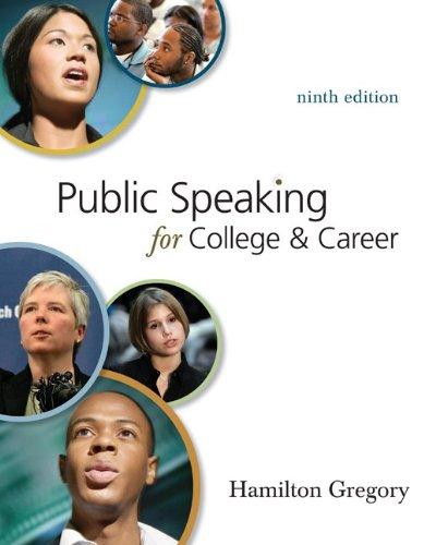 PUBLIC SPEAKING F/COLL.-CONN: Gregory, Hamilton