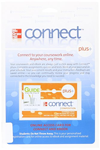 9780077380960: Access Code Connect Card for McGraw Hill Guide: Writing for College, Writing for Life
