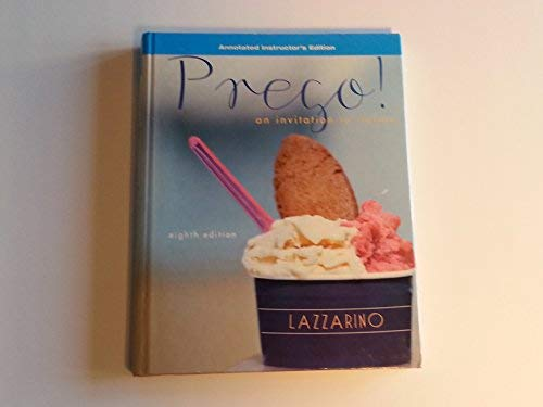 9780077382490: Prego: An Invitation to Italian (Annotated Inst. Ed.)