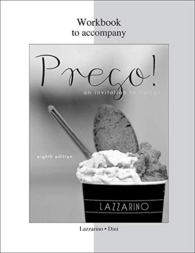 9780077382513: WORKBOOK TO ACCOMPANY PREGO! AN INVITATI