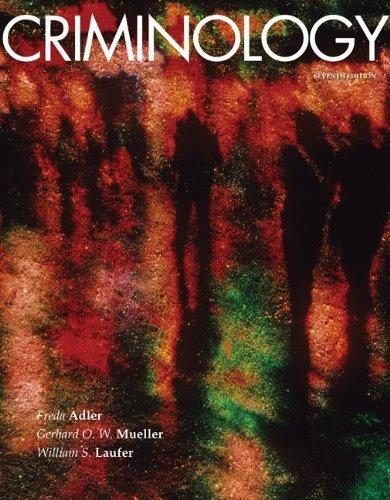 9780077384937: Criminology, 7th Edition