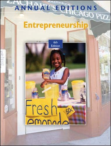 9780077386092: Annual Editions: Entrepreneurship, 6/e with FREE Annual Editions: Entrepreneurship, 6/e CourseSmart eBook