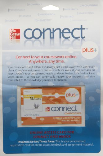 9780077386177: Connect Composition Plus access card for Writing Matters
