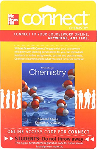 Connect Chemistry with LearnSmart 2 Semester Access: Chang, Raymond, Goldsby,
