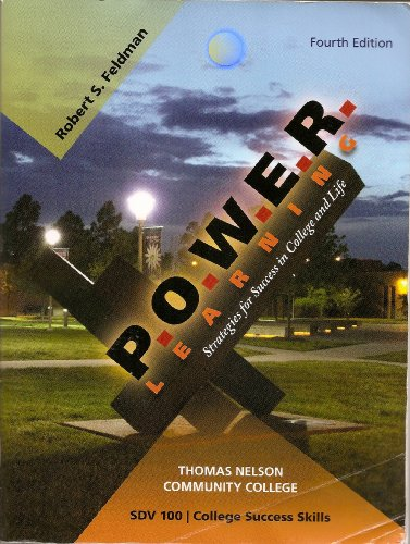 9780077386863: P.O.W.E.R. LEARNING: Strategies for Success in College and Life (Thomas Nelson Community College)