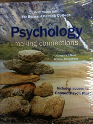 9780077393113: Psychology: Making Connections (Cutom Value Edition for Baruch College)