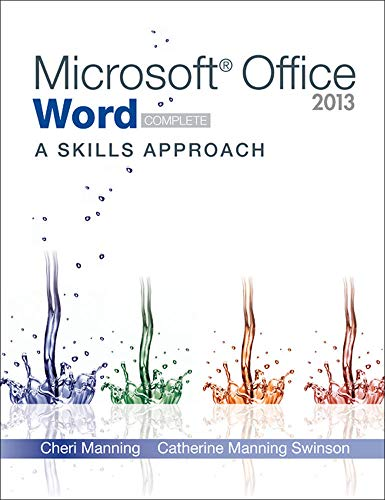 9780077394219: Microsoft Office Word 2013: A Skills Approach, Complete (CIT)
