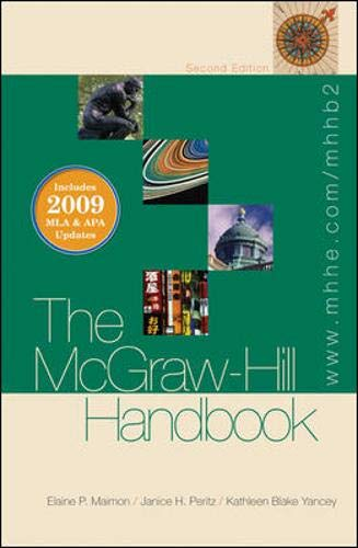 The McGraw-Hill Handbook (hardcover) - 2009 MLA: Elaine Maimon, Janice