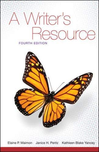 9780077397357: A Writer's Resource (spiral) - Student Edition