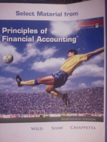 9780077399535: Principles of Financial Accounting (Select Material From)