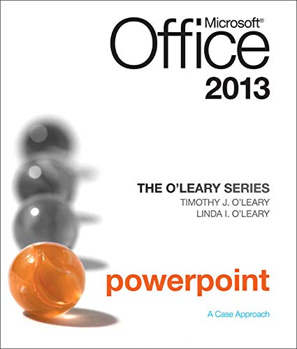 9780077400248: The O'Leary Series: Microsoft Office PowerPoint 2013, Introductory